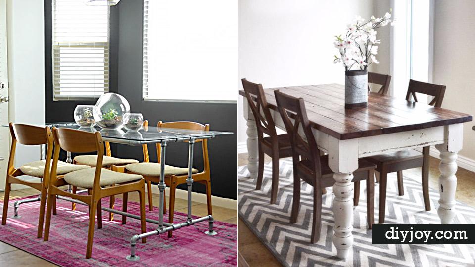 38 Diy Dining Room Tables - Homemade-dining-room-table