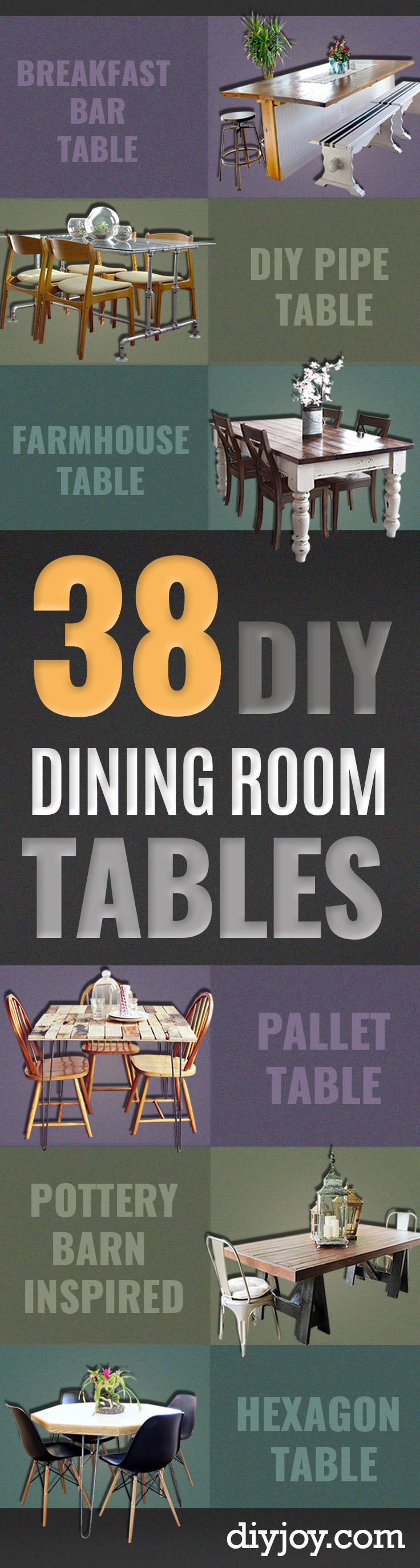 38 diy dining room tables diy dining room table projects creative do it yourself tables and ideas you can make solutioingenieria Image collections