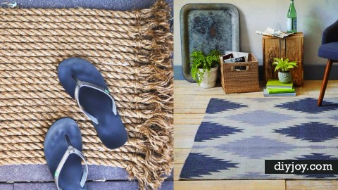32 Brilliant DIY Rugs You Can Make Today!   DIY Joy Projects and Crafts Ideas