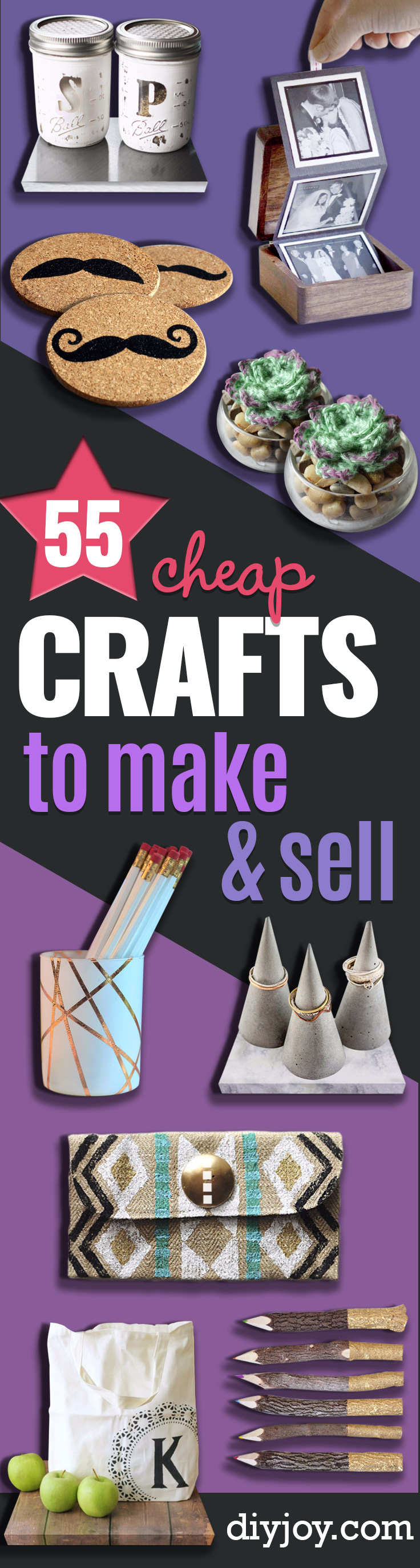 Cheap Crafts To Make and Sell - Inexpensive Ideas for DIY Crafts To Sell On Etsy - DIY Ideas to Sell and Make Money - Top Sellers online and popular best selling gift ideas to sell for profit
