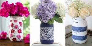 38 Mason Jar Vases To DIY Today