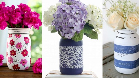 36 Brilliant Mason Jar Vases You Should Make Today! | DIY Joy Projects and Crafts Ideas