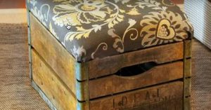 DIY Decor Idea: Milk Crate Ottoman