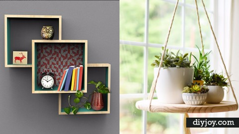 37 Brilliantly Creative DIY Shelving Ideas | DIY Joy Projects and Crafts Ideas