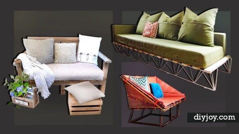 35 Budget-Friendly DIY Sofas and Couches | DIY Joy Projects and Crafts Ideas