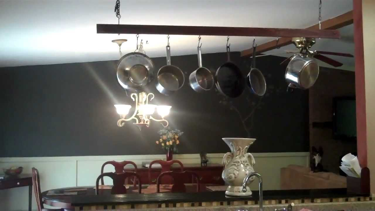 DIY Kitchen Makeover Ideas - There's Nothing Like a Kitchen Pot Rack to Give Your Home a Stylish Look & Save Space! - Cheap Projects Projects You Can Make On A Budget - Cabinets, Counter Tops, Paint Tutorials, Islands and Faux Granite. Tutorials and Step by Step Instructions