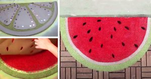 Welcome Summer With This DIY Watermelon Door Mat