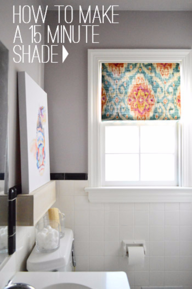 50 DIY Curtains and Drapery Ideas - 15 Minute DIY Window Shade - Easy No Sew Ideas and Step by Step Tutorials for Drapes and Curtain Ideas - Cheap and Creative Projects for Bedroom, Living Room, Kitchen, Kids and Teen Rooms - Simple Draperies for Fabric, Made Out of Sheets, Blackout Curtains and Valances #sewing #diydecor #drapes #decoratingideas
