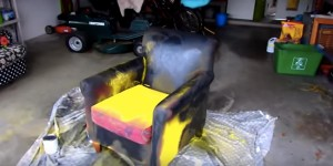 If This Isn't The Ugliest Chair I Don't Know What Is, But Watch & See What Happens!