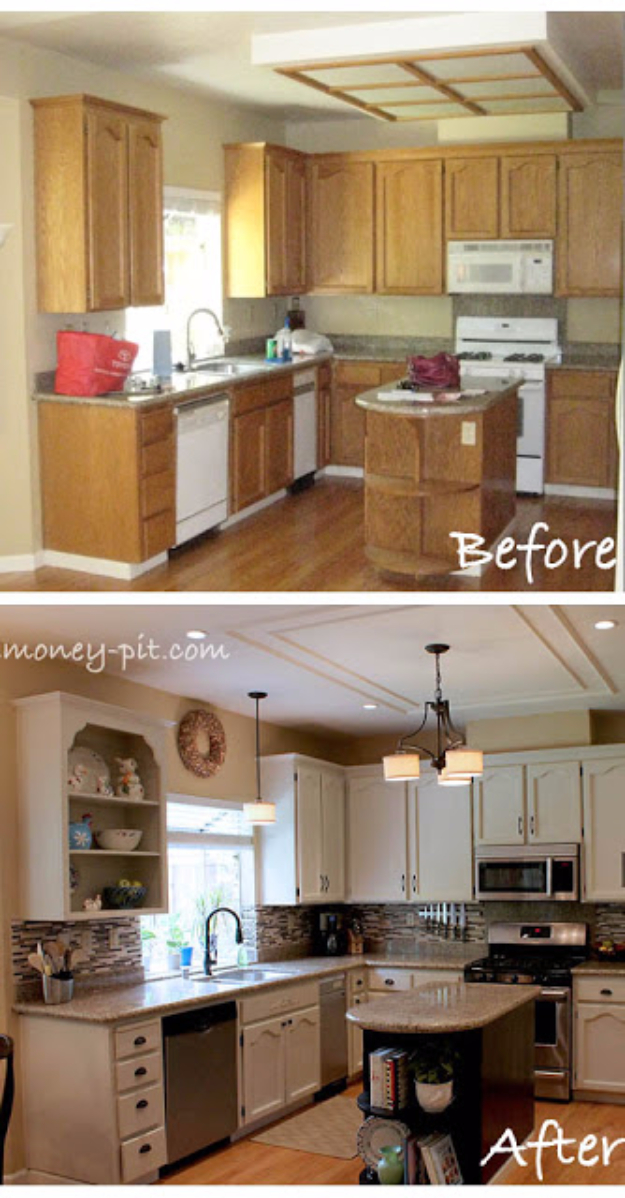 DIY Kitchen Makeover Ideas - Awesome Kitchen Reveal - Cheap Projects Projects You Can Make On A Budget - Cabinets, Counter Tops, Paint Tutorials, Islands and Faux Granite. Tutorials and Step by Step Instructions