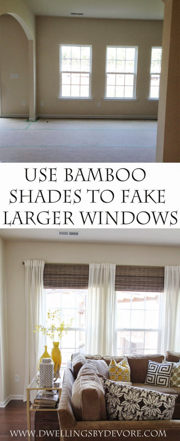 40 DIY Ways to Dress Up Boring Windows - Bamboo Shades To Make The Room Bigger - Cool Crafts and DIY Ideas to Make Awesome Bedrooms, Living Room Decor - Easy No Sew Ideas, Cheap Ideas for Makeovers, Painting and Sewing Tutorials With Step by Step Instructions for Awesome Home Decor