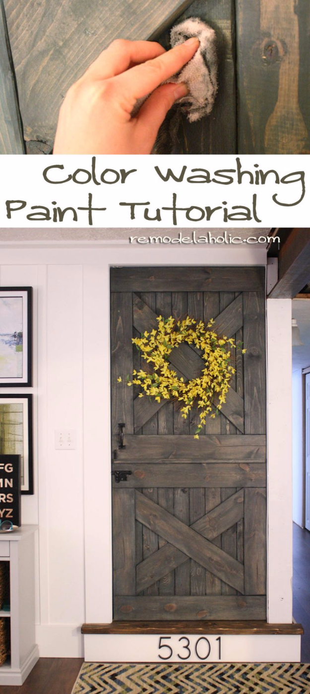 32 DIY Paint Techniques and Recipes - Color Washing Paint Tutorial - Cool Painting Ideas for Walls and Furniture - Awesome Tutorials for Stencil Projects and Easy Step By Step Tutorials for Painting Beautiful Backgrounds and Patterns. Modern, Vintage, Distressed and Classic Looks for Home, Living Room, Bedroom and More