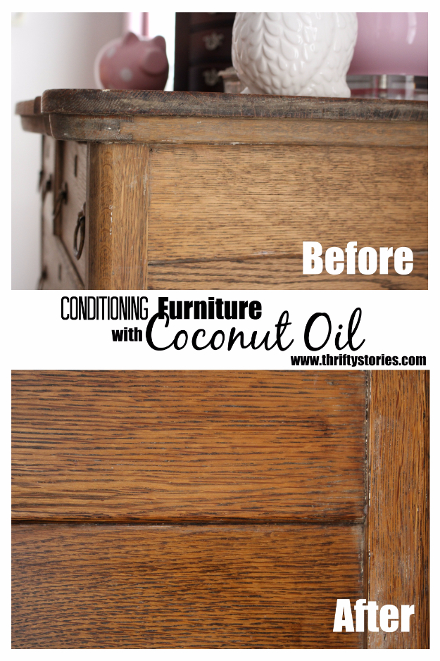 DIY Furniture Refinishing Tips - Conditioning Furniture With Coconut Oil - Creative Ways to Redo Furniture With Paint and DIY Project Techniques - Awesome Dressers, Kitchen Cabinets, Tables and Beds - Rustic and Distressed Looks Made Easy With Step by Step Tutorials - How To Make Creative Home Decor On A Budget