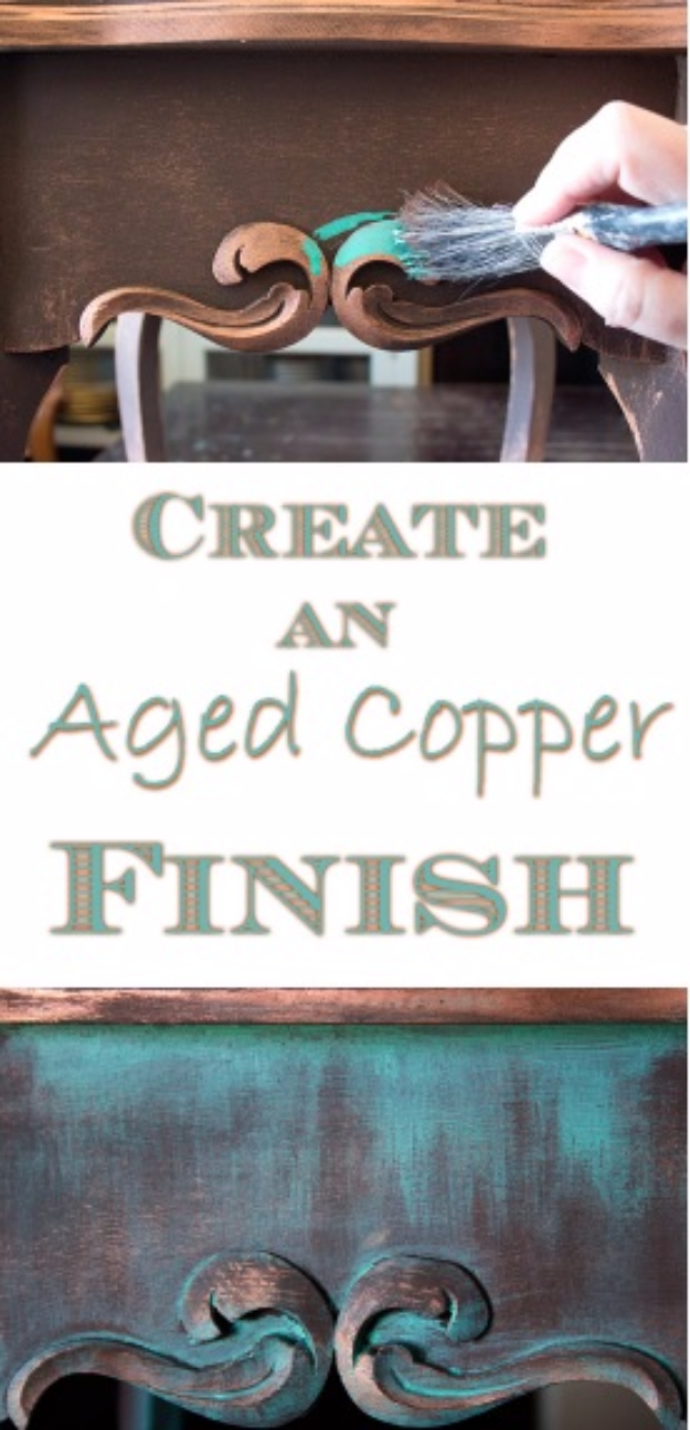 32 DIY Paint Techniques and Recipes - Create An Aged Copper Finish - Cool Painting Ideas for Walls and Furniture - Awesome Tutorials for Stencil Projects and Easy Step By Step Tutorials for Painting Beautiful Backgrounds and Patterns. Modern, Vintage, Distressed and Classic Looks for Home, Living Room, Bedroom and More