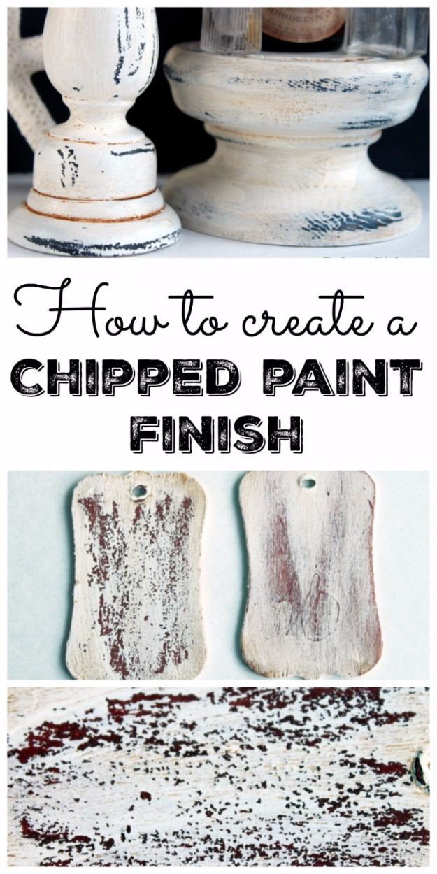 32 DIY Paint Techniques and Recipes - Create a Chipped Paint Finish - Cool Painting Ideas for Walls and Furniture - Awesome Tutorials for Stencil Projects and Easy Step By Step Tutorials for Painting Beautiful Backgrounds and Patterns. Modern, Vintage, Distressed and Classic Looks for Home, Living Room, Bedroom and More