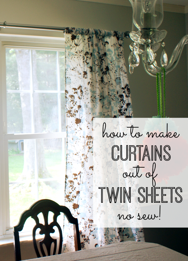 50 DIY Curtains and Drapery Ideas - Curtains Out Of Twin Sheets - Easy No Sew Ideas and Step by Step Tutorials for Drapes and Curtain Ideas - Cheap and Creative Projects for Bedroom, Living Room, Kitchen, Kids and Teen Rooms - Simple Draperies for Fabric, Made Out of Sheets, Blackout Curtains and Valances #sewing #diydecor #drapes #decoratingideas