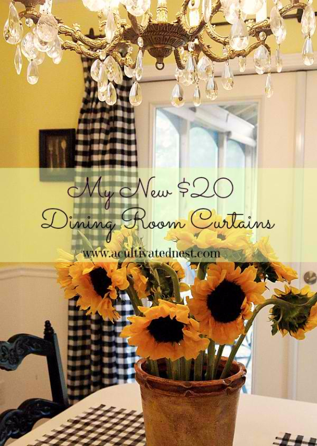40 DIY Ways to Dress Up Boring Windows - DIY $20 Curtains - Cool Crafts and DIY Ideas to Make Awesome Bedrooms, Living Room Decor - Easy No Sew Ideas, Cheap Ideas for Makeovers, Painting and Sewing Tutorials With Step by Step Instructions for Awesome Home Decor