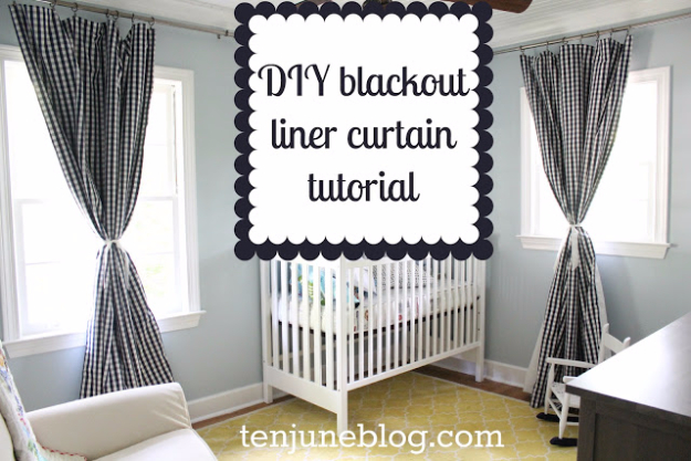 50 DIY Curtains and Drapery Ideas - DIY Blackout Panel Curtain Tutorial - Easy No Sew Ideas and Step by Step Tutorials for Drapes and Curtain Ideas - Cheap and Creative Projects for Bedroom, Living Room, Kitchen, Kids and Teen Rooms - Simple Draperies for Fabric, Made Out of Sheets, Blackout Curtains and Valances #sewing #diydecor #drapes #decoratingideas