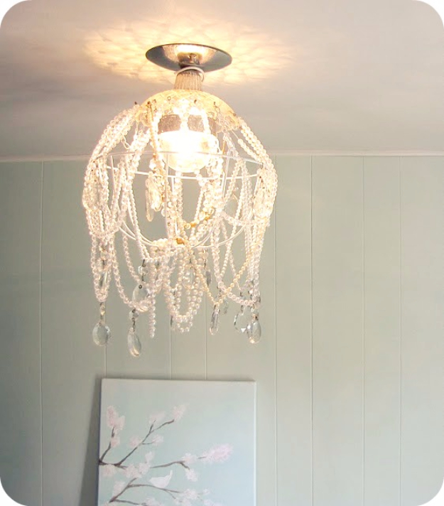 DIY Chandelier Ideas and Project Tutorials - DIY Crystal Chandelier - Easy Makeover Tips, Rustic Pipe, Crystal, Rustic, Mason Jar, Beads. Bedroom, Outdoor and Wedding Girls Room Lighting Ideas With Step by Step Instructions c