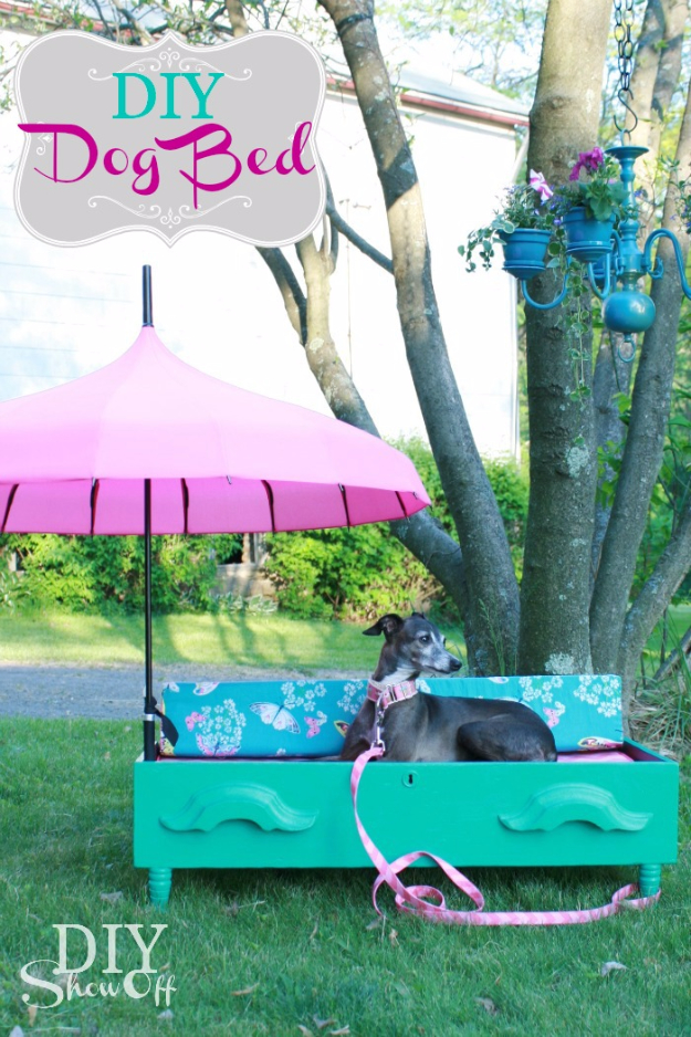 Upcycled Furniture Projects - DIY Dresser Dog Bed - Repurposed Home Decor and Furniture You Can Make On a Budget. Easy Vintage and Rustic Looks for Bedroom, Bath, Kitchen and Living Room. #upcycled #diyideas #diyfurniture