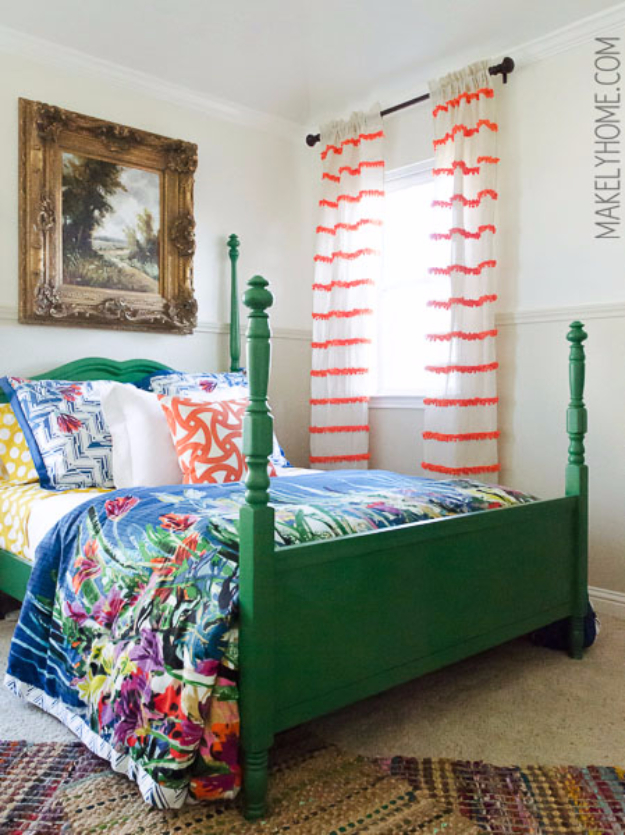 40 DIY Ways to Dress Up Boring Windows - DIY Embellished Anthropologie Swing Stripe Curtains - Cool Crafts and DIY Ideas to Make Awesome Bedrooms, Living Room Decor - Easy No Sew Ideas, Cheap Ideas for Makeovers, Painting and Sewing Tutorials With Step by Step Instructions for Awesome Home Decor