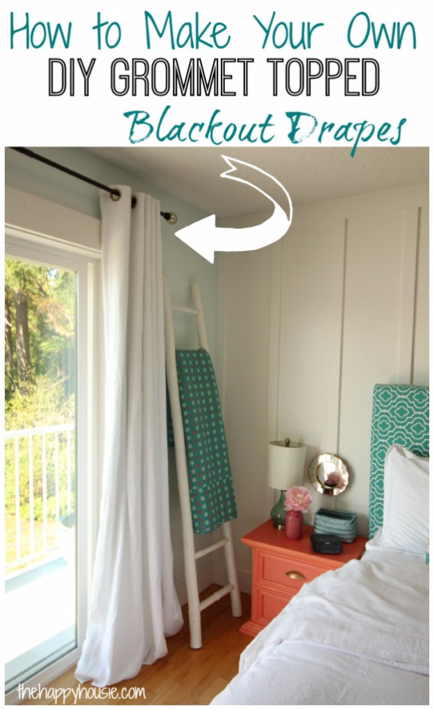 40 DIY Ways to Dress Up Boring Windows - DIY Grommet Topped Blackout Drapes - Cool Crafts and DIY Ideas to Make Awesome Bedrooms, Living Room Decor - Easy No Sew Ideas, Cheap Ideas for Makeovers, Painting and Sewing Tutorials With Step by Step Instructions for Awesome Home Decor