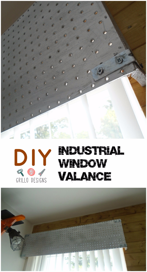 40 DIY Ways to Dress Up Boring Windows - DIY Industrial Window Valance - Cool Crafts and DIY Ideas to Make Awesome Bedrooms, Living Room Decor - Easy No Sew Ideas, Cheap Ideas for Makeovers, Painting and Sewing Tutorials With Step by Step Instructions for Awesome Home Decor