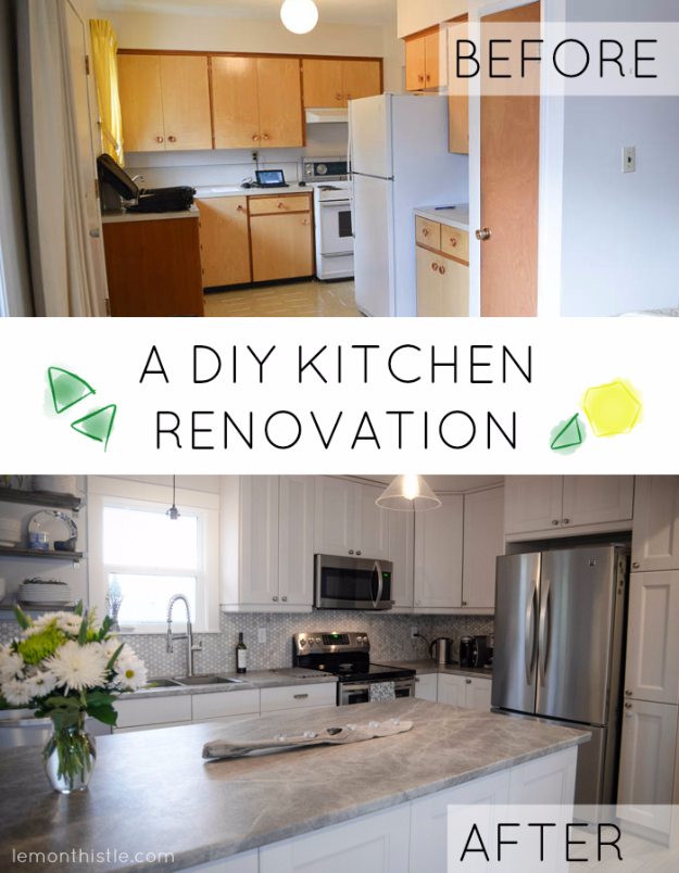DIY Kitchen Makeover Ideas - DIY Kitchen Renovation - Cheap Projects Projects You Can Make On A Budget - Cabinets, Counter Tops, Paint Tutorials, Islands and Faux Granite. Tutorials and Step by Step Instructions