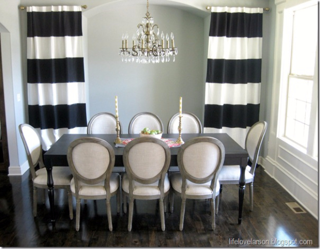 50 DIY Curtains and Drapery Ideas - DIY No Sew Black And White Striped Curtains - Easy No Sew Ideas and Step by Step Tutorials for Drapes and Curtain Ideas - Cheap and Creative Projects for Bedroom, Living Room, Kitchen, Kids and Teen Rooms - Simple Draperies for Fabric, Made Out of Sheets, Blackout Curtains and Valances #sewing #diydecor #drapes #decoratingideas