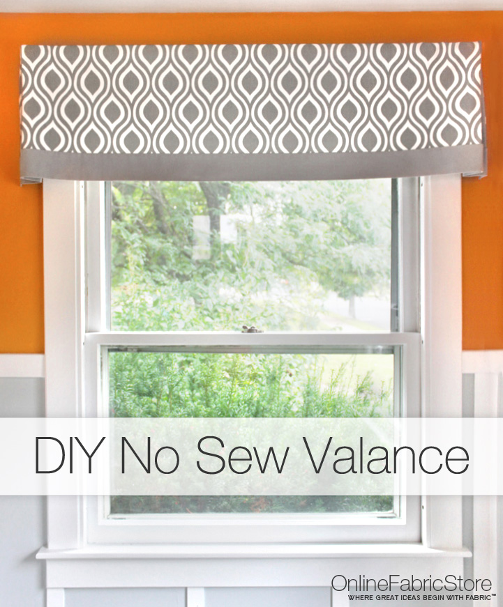 50 DIY Curtains and Drapery Ideas - DIY No Sew Valance Tutorial - Easy No Sew Ideas and Step by Step Tutorials for Drapes and Curtain Ideas - Cheap and Creative Projects for Bedroom, Living Room, Kitchen, Kids and Teen Rooms - Simple Draperies for Fabric, Made Out of Sheets, Blackout Curtains and Valances #sewing #diydecor #drapes #decoratingideas