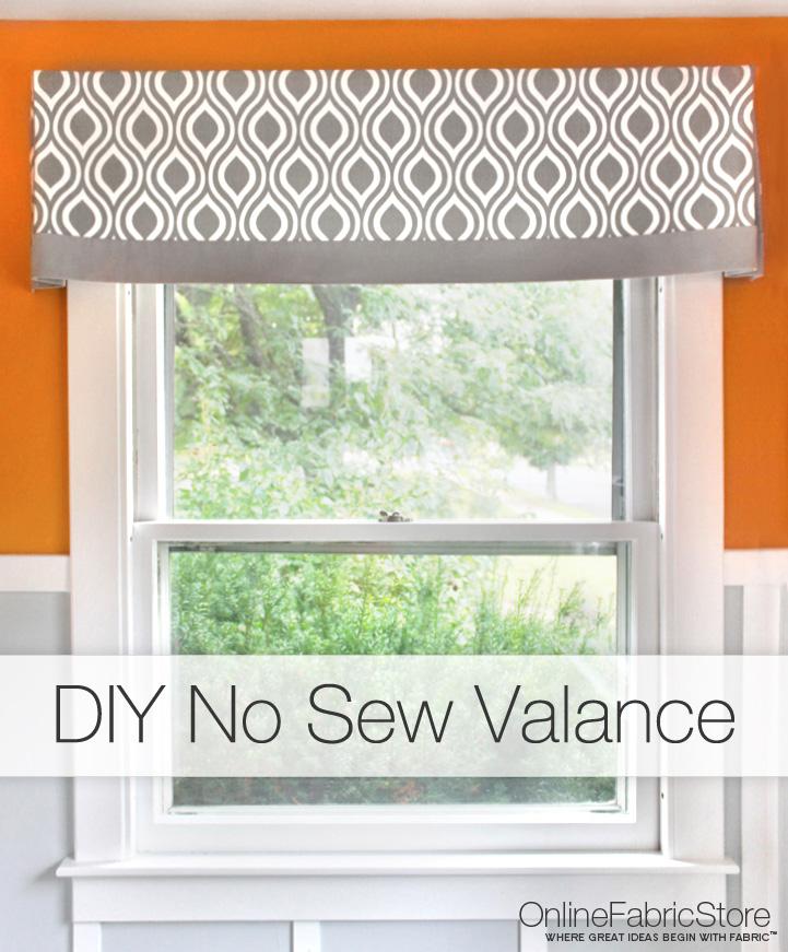 No Sew Curtains Valance Tutorials