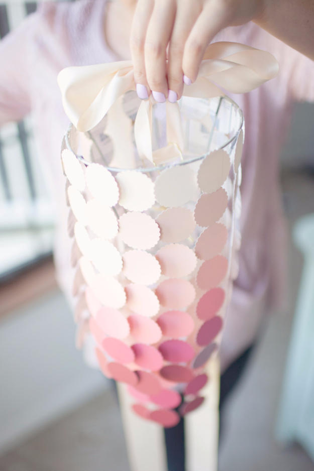 DIY Chandelier Ideas and Project Tutorials - DIY Paint Swatch Chandelier - Easy Makeover Tips, Rustic Pipe, Crystal, Rustic, Mason Jar, Beads. Bedroom, Outdoor and Wedding Girls Room Lighting Ideas With Step by Step Instructions