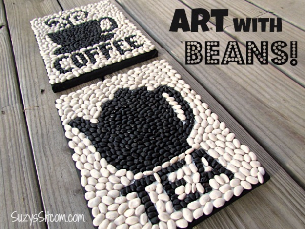 DIY Projects Made From Trash - DIY Seed Art - Cool Crafts and DIY Made from Upcycled Items You Don't Want To Throw Away. Home Decor, Gifts and Fun Ideas for Kids, Adults and Teens