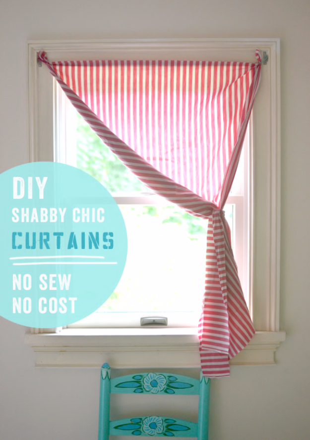 40 DIY Ways to Dress Up Boring Windows - DIY Shabby Chic Curtains - Cool Crafts and DIY Ideas to Make Awesome Bedrooms, Living Room Decor - Easy No Sew Ideas, Cheap Ideas for Makeovers, Painting and Sewing Tutorials With Step by Step Instructions for Awesome Home Decor
