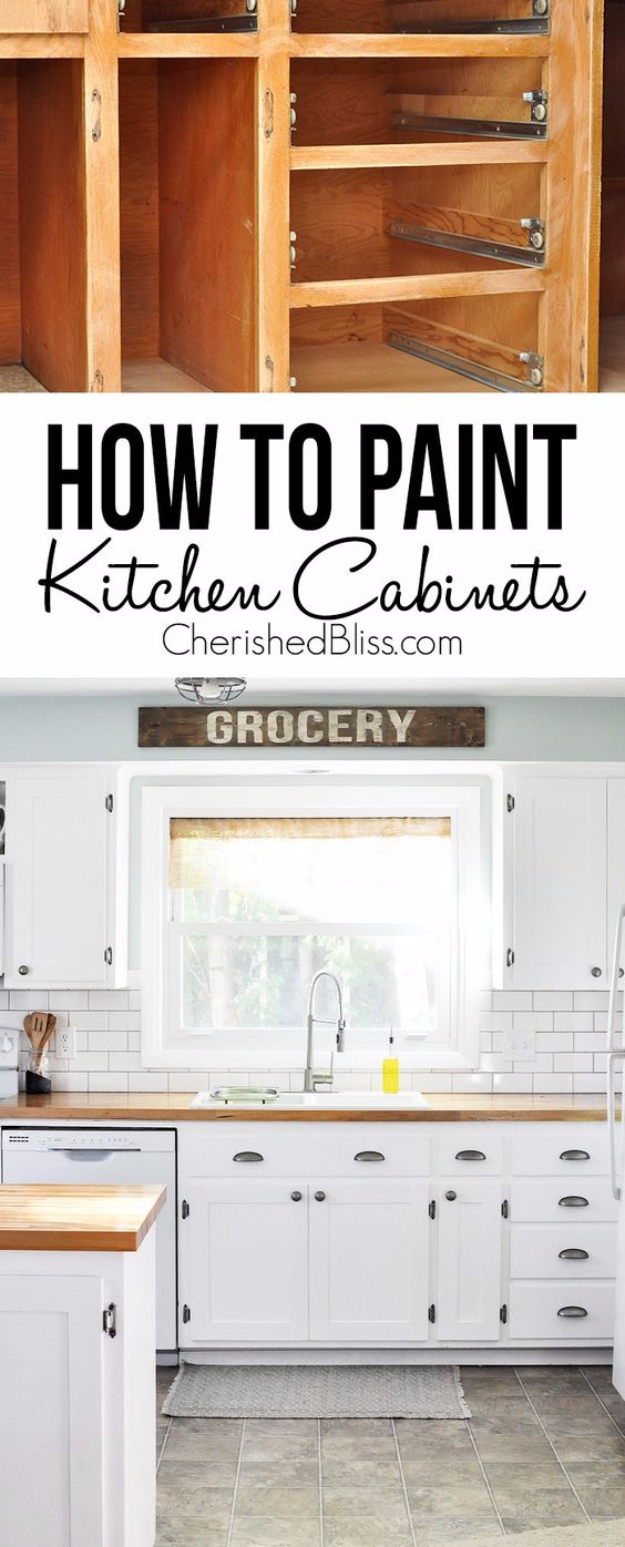 DIY Kitchen Makeover Ideas - DIY Shaker Style Cabinets - Cheap Projects Projects You Can Make On A Budget - Cabinets, Counter Tops, Paint Tutorials, Islands and Faux Granite. Tutorials and Step by Step Instructions