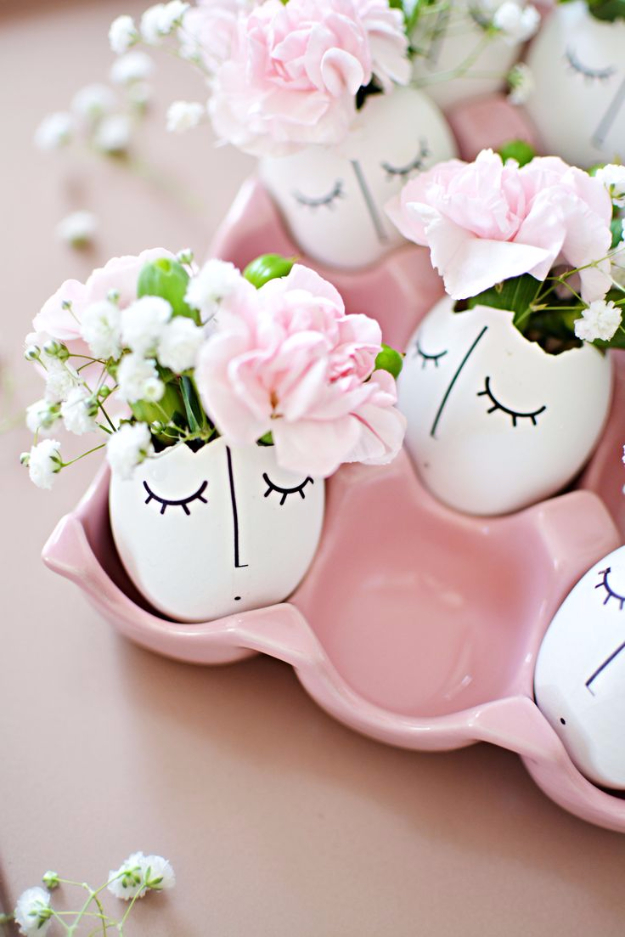 DIY Projects Made From Trash - DIY Whimsy Illustrated Eggshell Centerpiece - Cool Crafts and DIY Made from Upcycled Items You Don't Want To Throw Away. Home Decor, Gifts and Fun Ideas for Kids, Adults and Teens