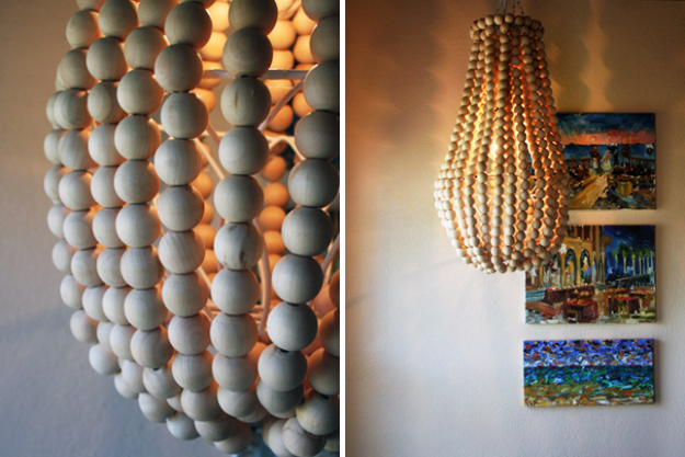 DIY Chandelier Ideas and Project Tutorials -DIY Wooden Chandelier- Easy Makeover Tips, Rustic Pipe, Crystal, Rustic, Mason Jar, Beads. Bedroom, Outdoor and Wedding Girls Room Lighting Ideas With Step by Step Instructions