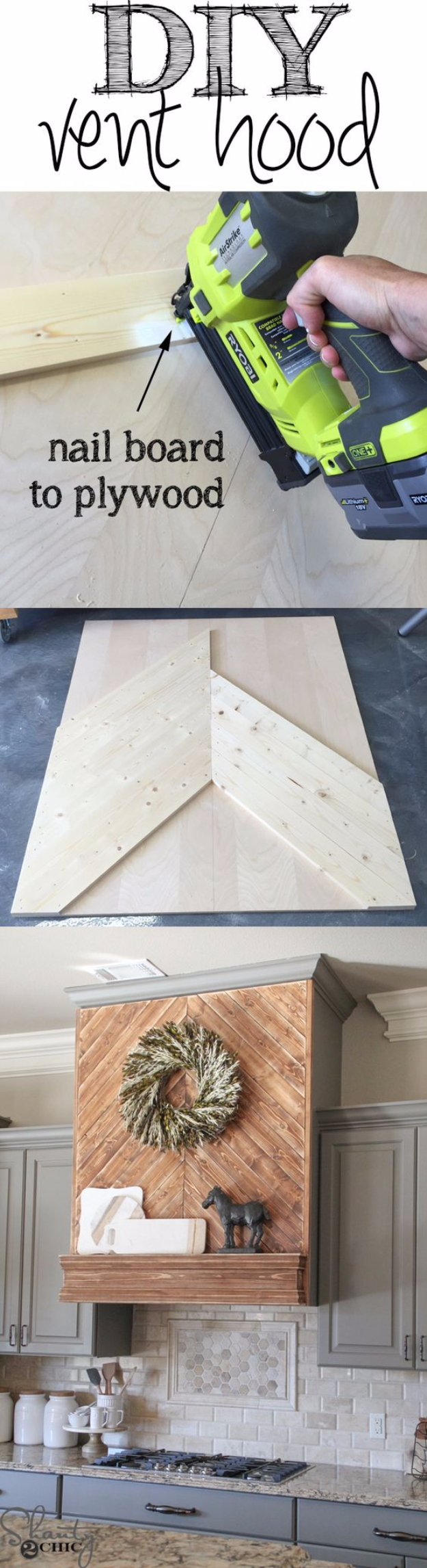 DIY Kitchen Makeover Ideas - DIY Wooden Vent Hood - Cheap Projects Projects You Can Make On A Budget - Cabinets, Counter Tops, Paint Tutorials, Islands and Faux Granite. Tutorials and Step by Step Instructions