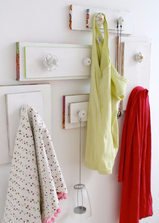 Upcycled Furniture Projects - Drawer Hangers - Repurposed Home Decor and Furniture You Can Make On a Budget. Easy Vintage and Rustic Looks for Bedroom, Bath, Kitchen and Living Room. #upcycled #diyideas #diyfurniture