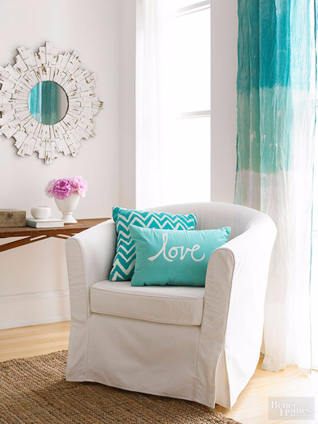 40 DIY Ways to Dress Up Boring Windows - Dyed Curtains - Cool Crafts and DIY Ideas to Make Awesome Bedrooms, Living Room Decor - Easy No Sew Ideas, Cheap Ideas for Makeovers, Painting and Sewing Tutorials With Step by Step Instructions for Awesome Home Decor