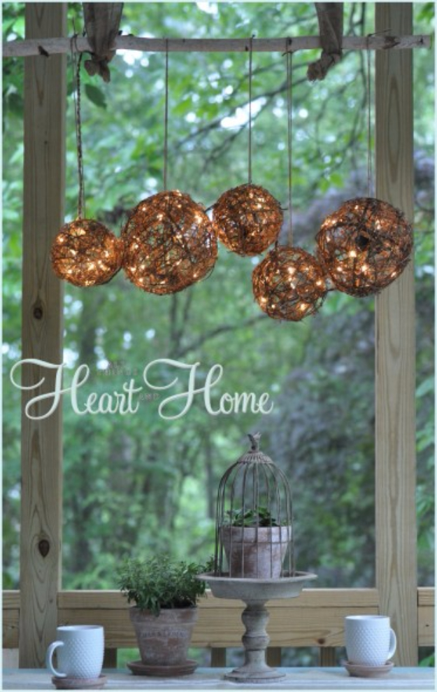 DIY Chandelier Ideas and Project Tutorials - Easy DIY Outdoor Chandelier - Easy Makeover Tips, Rustic Pipe, Crystal, Rustic, Mason Jar, Beads. Bedroom, Outdoor and Wedding Girls Room Lighting Ideas With Step by Step Instructions