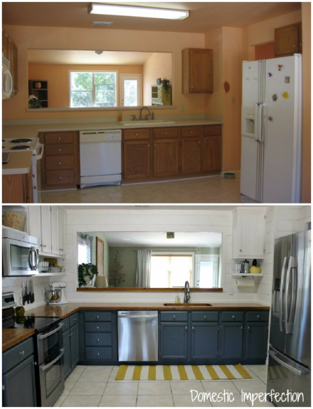 37 brilliant diy kitchen makeover ideas for Small kitchen remodel on a budget
