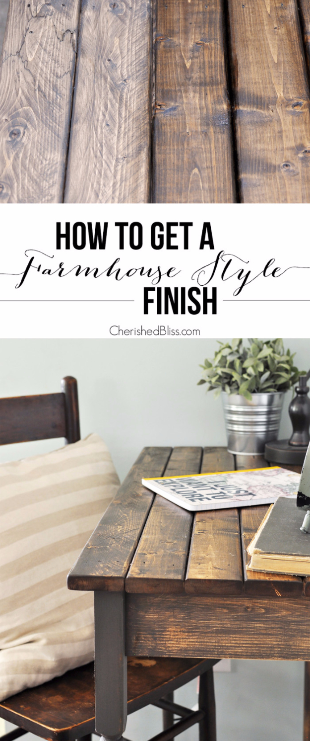 DIY Furniture Refinishing Tips - Farmhouse Style Finish - Creative Ways to Redo Furniture With Paint and DIY Project Techniques - Awesome Dressers, Kitchen Cabinets, Tables and Beds - Rustic and Distressed Looks Made Easy With Step by Step Tutorials - How To Make Creative Home Decor On A Budget