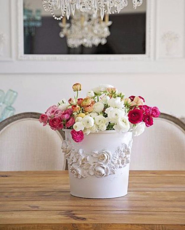 DIY Projects Made From Trash - Florist Bucket Transformation - Cool Crafts and DIY Made from Upcycled Items You Don't Want To Throw Away. Home Decor, Gifts and Fun Ideas for Kids, Adults and Teens