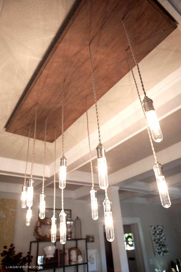 DIY Chandelier Ideas and Project Tutorials - Industrial Edison Style Chandelier - Easy Makeover Tips, Rustic Pipe, Crystal, Rustic, Mason Jar, Beads. Bedroom, Outdoor and Wedding Girls Room Lighting Ideas With Step by Step Instructions