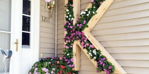 Watch How He Personalizes His Home With A Monogram Planter!