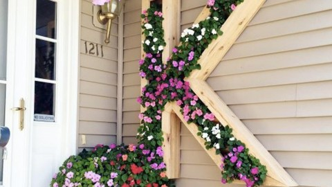 Watch How He Personalizes His Home With A Monogram Planter! | DIY Joy Projects and Crafts Ideas