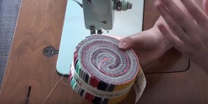 Look What She Does With This Roll Of Colorful Fabric!