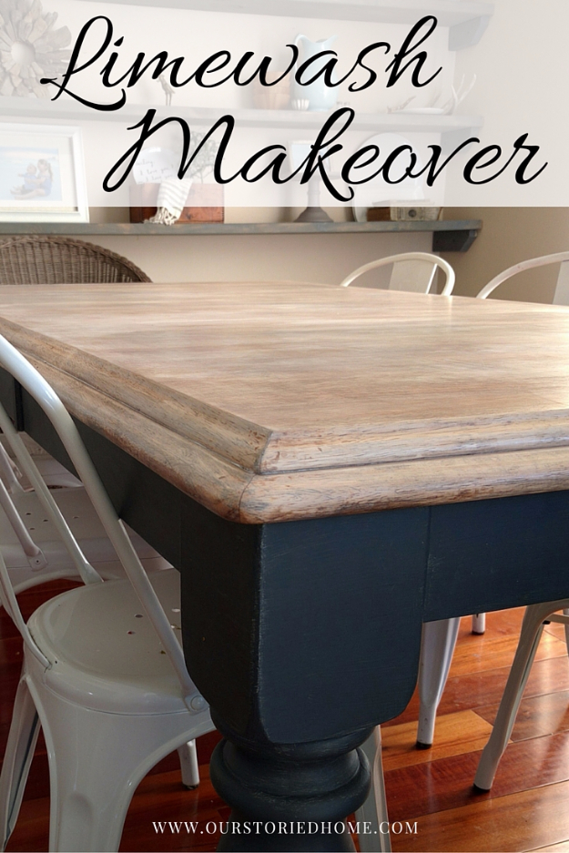 DIY Furniture Refinishing Tips - Limewashed Table Makeover - Creative Ways to Redo Furniture With Paint and DIY Project Techniques - Awesome Dressers, Kitchen Cabinets, Tables and Beds - Rustic and Distressed Looks Made Easy With Step by Step Tutorials - How To Make Creative Home Decor On A Budget
