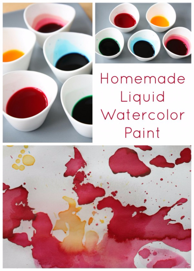 32 DIY Paint Techniques and Recipes - Liquid Watercolor Paint - Cool Painting Ideas for Walls and Furniture - Awesome Tutorials for Stencil Projects and Easy Step By Step Tutorials for Painting Beautiful Backgrounds and Patterns. Modern, Vintage, Distressed and Classic Looks for Home, Living Room, Bedroom and More